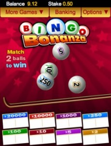bingo bonanza mobile phone